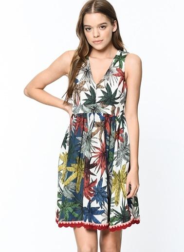 Askılı Desenli Kloş Elbise-Tommy Hilfiger